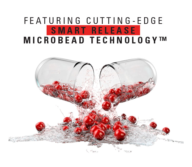 Featuring cutting-edge smart release microbead technology